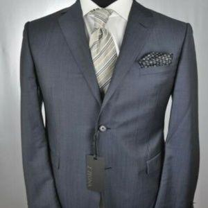 NWT & Recent Z Zegna Blue/Gray Mod 2Btn Suit